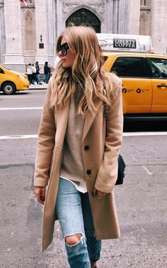 camel + denim