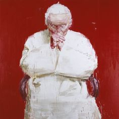 YAN PEI MING CLLC // the mischievous pope, really evil with the red background. Love it // goes well with The Pope's Ring Is Made of Stolen Gold by I Will I
