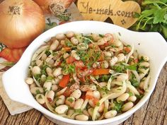 How to cook Bean Salad Recipe? You can easily make Bean Salad Recipe. You will love our Bean Salad Recipe. Bean Salad Recipes, Soup Recipes, Party Recipes, Turkish Salad, Perfect Salad Recipe, Turkish Kitchen, How To Cook Beans, White Beans, Recipe Collection