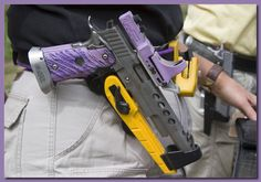 IPSC Unlimited Race Gun used by a female competitor.
