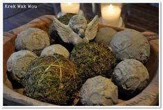 DIY decoration- and mossballs
