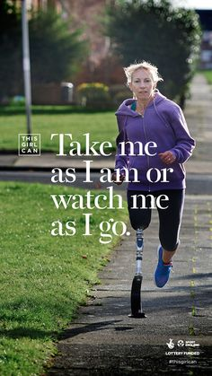 In its second phase, Sport England's This Girl campaign becomes even more inclusive, with a poster like this one that features an older disabled female athlete.  (scheduled via http://www.tailwindapp.com?utm_source=pinterest&utm_medium=twpin&utm_content=post138451455&utm_campaign=scheduler_attribution)
