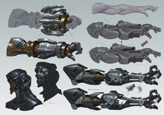 ArtStation - 科幻小练4, terry wei Robot Concept Art, Weapon Concept Art, Armor Concept, Robot Art, Cyberpunk, Character Concept, Character Art, Avatar Picture, Sci Fi Weapons
