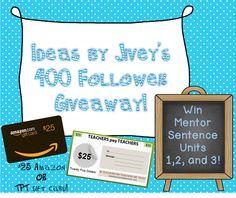 400 Follower Giveaway!