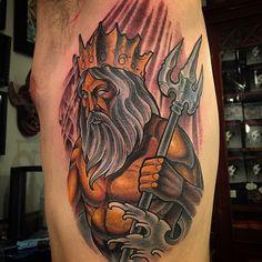 Znalezione obrazy dla zapytania posejdon tattoo