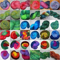 Hand dyed Yarns site with videos