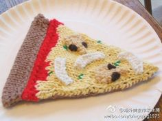 It is a truth universally acknowledged that everyone loves pizza. Why not incorporate it into your child's play kitchen with this Pizza Slice DIY toy? Amigurumi patterns are fun because they get you away from the humdrum of accessories and clothing. Amigurumi Patterns, Knitting Patterns Free, Free Knitting, Baby Knitting, Free Pattern, Knitting Toys, Knit Patterns, Knitting For Kids, Knitting Projects