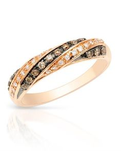 Genuine diamonds in rose gold #ring #bidzauctions