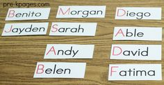 How and Why to Use Name Cards in your Preschool or Kindergarten Classroom.