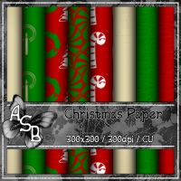 Christmas Papers [Alexa's Scrap Box] - $1.00 : LowBudgetScrapping