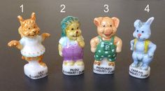 Vintage tiny porcelain figurine from France, supply used for cake decoration during epiphany  Size about 1 1/4 high   Excellent condition  Select your style from the drop down menu