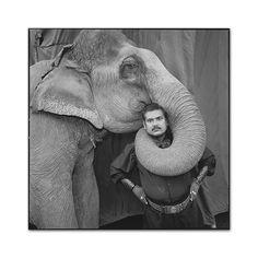 Ram Prakash Singh with His Elephant Shyama,Great Golden Circus, Ahmedabad, India, 1990, photo by Mary Ellen Mark - Mary Ellen Mark 55