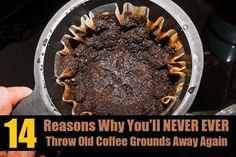 Here are fourteen genius ways to recycle used coffee grounds. You'll never throw them away again!