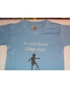 """t-shirt """"je serai bientôt grand frère"""" pour annoncer une grossesse taille 3 ans"""