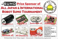 JSumo is prize sponsor of ALL International Robot Sumo Competition! We will have a desk at Tournament, find us! #jsumo, #sumorobot, #japan