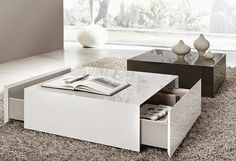 modern coffee table designs square shape for large spaces