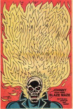 The Marvel Age of Comics: Ghost Rider. Comic Book Panels, Comic Book Covers, Comic Books Art, Comic Art, Book Art, Marvel Comics Art, Old Comics, Vintage Comics, Illustrations