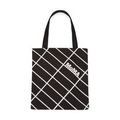 The pattern of this tote is inspired by the grid of city streets a subtle reference to MoMA's location in the busy mid-town district in Manhattan. City Grid, Anti Theft Backpack, Moma, Bag Accessories, Reusable Tote Bags, Wallet, Canvas Totes, Brand Identity, Color