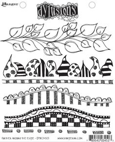 Dyan Reaveley's Dylusions Stamp Set - Further Around The Edge. $15.00, via Etsy.