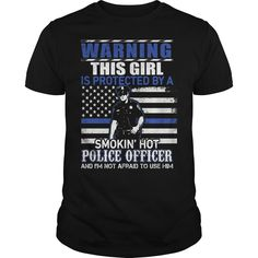 this girl is protected by a smoking hot police officer funny t shirt by saiyanplanetshop----OEJGKVT
