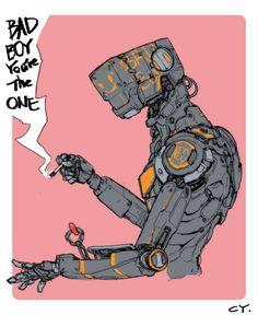 "rhubarbes: "" by Ching Yeh "" Art And Illustration, Character Design Animation, Character Art, Cyberpunk Kunst, Cyberpunk Aesthetic, Comic Manga, Robot Concept Art, Futuristic Art, Movie Poster Art"
