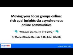 (191) Moving your focus groups online: rich qual insights via asynchronous online communities - YouTube Focus Group, Whittling, Market Research, Insight, Presentation, Community, Marketing, Youtube, Wood Carving