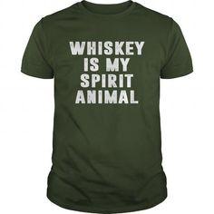 Whiskey Is My Spirit Animal T Shirts, Hoodies, Sweatshirts. CHECK PRICE ==► https://www.sunfrog.com/Drinking/Whiskey-Is-My-Spirit-Animal-Forest-Guys.html?41382
