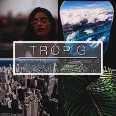 """231 curtidas, 11 comentários - vsco themes (@vsco.themes) no Instagram: """"TROP G #vtpaid - I LOVE LOVE LOVE this filter, one of my favourites for sure. I love 04 by far one…"""""""