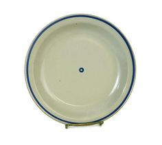 Iron Mountain Stoneware - Signed Pottery - Huckleberry Pattern - Salad Plate - Dessert Plate - Vintage Kitchen - USA Pottery