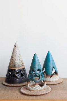 New Photographs Clay Pottery candle holder Tips Heather Levine pottery ceramic pyramid cone handmade handcrafted Candle Holders Clay Candle Holders, Handmade Candle Holders, Incense Holder, Ceramic Clay, Ceramic Pottery, Ceramic Lantern, Pottery Store, Kegel, Pottery Classes