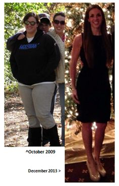 Weight Loss Before and After Photo #weightloss #loseweight -- How she lost 12 dress sizes in 5 months.