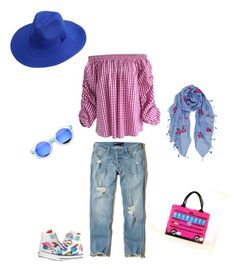 """""""Summer 2017 Casual Outfit"""" by debbie-boyd-morgan on Polyvore featuring Hollister Co., Chicwish, Converse and Humble Chic"""