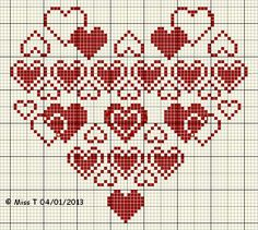Brilliant Cross Stitch Embroidery Tips Ideas. Mesmerizing Cross Stitch Embroidery Tips Ideas. Cross Stitching, Cross Stitch Embroidery, Embroidery Patterns, Cross Stitch Heart, Simple Cross Stitch, Cross Stitch Designs, Cross Stitch Patterns, Knitting Charts, Crochet Chart