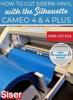 Tips for getting started with the Cameo 4 and Cameo 4 Plus to cut Siser heat transfer vinyl successfully! Silhouette Studio, Silhouette Cameo, Make Your Own Banner, Vinyl Cutting, Vinyl Projects, Heat Transfer Vinyl, North America, Tutorials, Tips