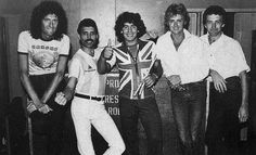 Queen with Diego Maradona, 1981. http://t.co/7E1sMpbJaQ