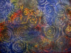 Ro Bruhn - flour resist dyed fabric