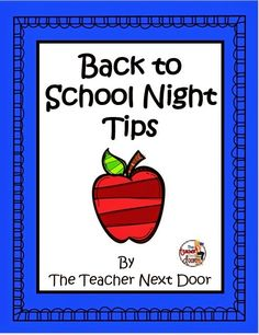 The Teacher Next Door: Creative Ideas from my classroom to yours.: Blasting Back to School: Giveaway and Back to School Night Tips