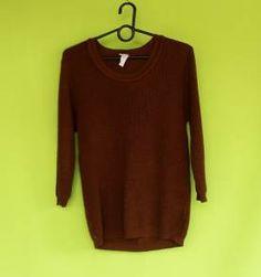 Blusa de tricô marrom