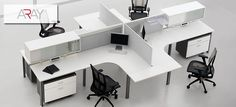 MAI :: ARAY - Desking System, Glass Dividers, Multi User Telecommunication Outlet Assembly, MUTOA, zone cabling