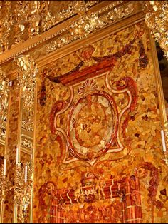 ★ AMBER ROOM Restored Catherine Palace Tsarskoe Selo Near Saint Petersburg, RUSSIA