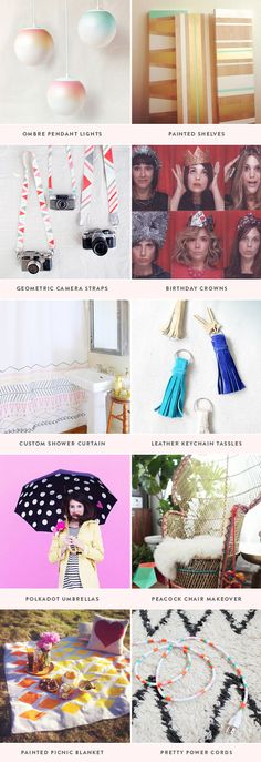 10 fun DIY projects, also I love this website!