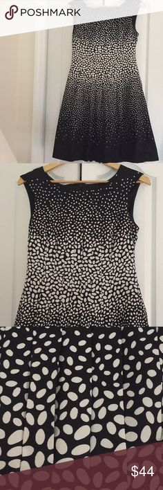 Ann Taylor Dress Like new black and beige Ann Taylor Dress in size 6. Lightweight and fully lined. Fit and flair. Classy Ann Taylor Dresses Midi