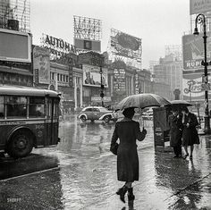 It's Raining in 1943 New York City