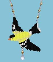 Bead Pattern - Goldfinch Necklace