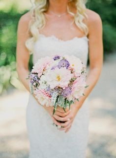 Soft pink and lavender bouquet: http://www.stylemepretty.com/2013/02/06/camarillo-california-wedding-from-daniel-kim-photography/ | Photography: Daniel Kim - http://danielkimphoto.com/