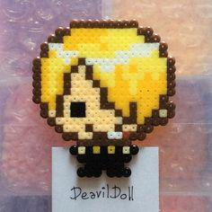 Sanji One Piece perler beads by deavildoll