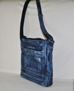 Сумка из джинсовой ткани – купить в интернет-магазине на Ярмарке Мастеров с доставкой