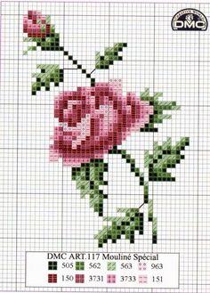 rosas en punto de cruz - Google'da Ara