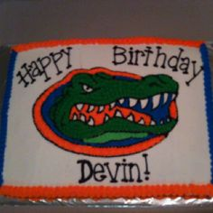 Florida Gators cake, awesome idea for hubby's bday