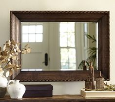 Basement Finishing Ideas: Bathroom Mirror | Pottery Barn (Oxford Mirror)